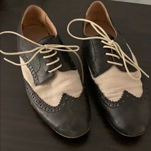 Black and Cream Oxfords from Barney's